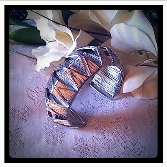Vintage Jewelry - Vintage Wire Pyramid Cuff Bracelet